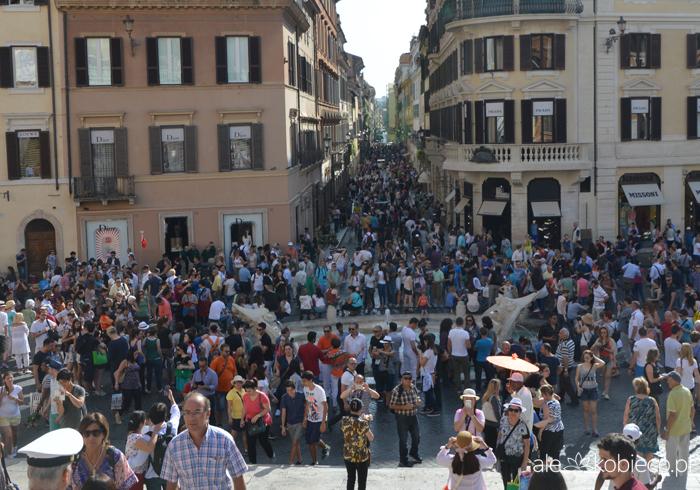 Rzym - Plac Hiszpański i Schody Hiszpańskie
