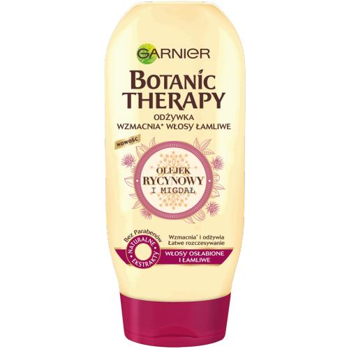 Odżywka do włosów słabych i łamliwychGarnier Botanic Therapy z olejkiem rycynowym i migdałem