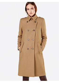 Płaszcz damski przejściowy camel Buckey - Drykorn