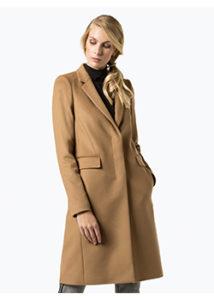 Hugo Boss płaszcz damski camel z dodatkiem kaszmiru – Canati