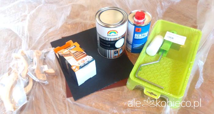 Malowanie mebli z okleiny - potrzebne materiały