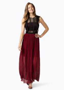 Apart Damska sukienka wieczorowa na Sylwestra czarno-bordowa - VanGraff