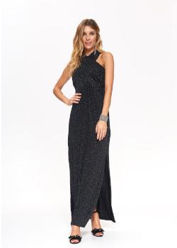 Sukienka wieczorowa długa na 3-style z efektem gwiezdnego pyłu czarna - Top Secret