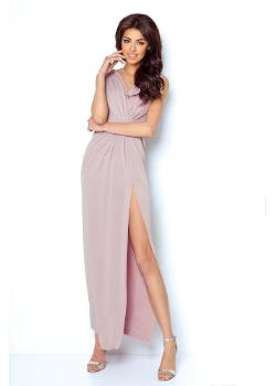 Długa sukienka wieczorowa Dalia Ivon - pudrowy róż
