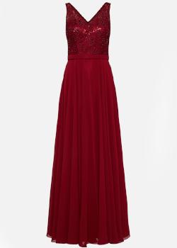 Suknia wieczorowa na Sylwestra bordo - Mascara London