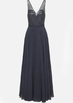 Suknia wieczorowa na Sylwestra - Mascara London szara