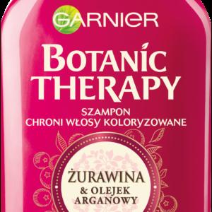 Szampon Garnier Botanic Therapy do włosów farbowanych i pasemek - żurawina i olejek arganowy