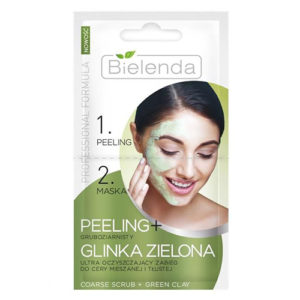 Bielenda, peeling + maska z glinki zielonej