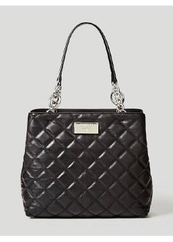 Pikowana torebka na ramie czarna Guess