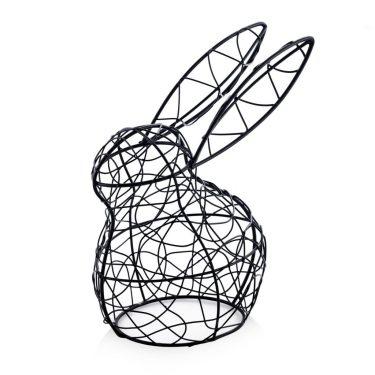Figurka dekoracyjna królik z metalu, home&you