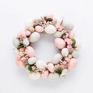 Wianek wielkanocne jajka róż, home&you
