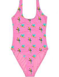 Kostium kąpielowy jednoczęściowy papugi – różowy