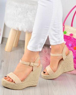 Sandały Espadryle na koturnie