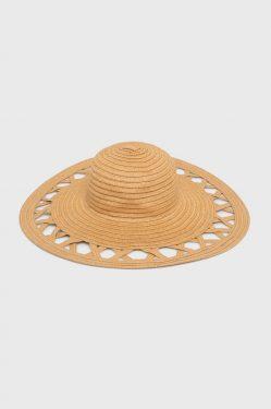 Słomkowy kapelusz z ażurem - Pieces